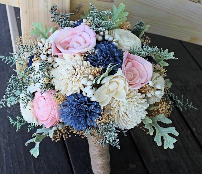 blush wedding bouquet photo - 1