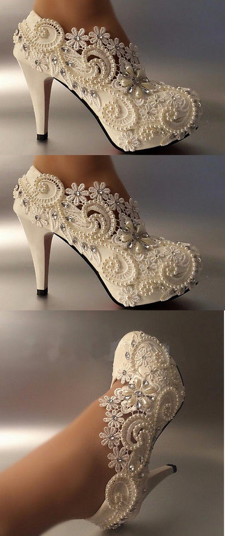 bridal bootie shoes photo - 1
