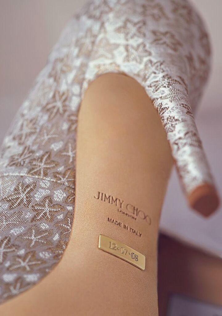 bridal jimmy choo shoes photo - 1