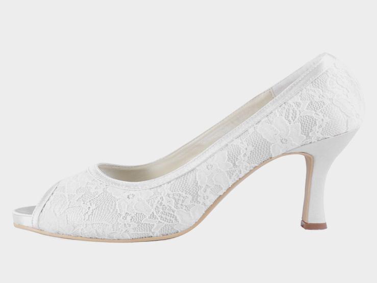 bridal shoes 3 inch heel photo - 1