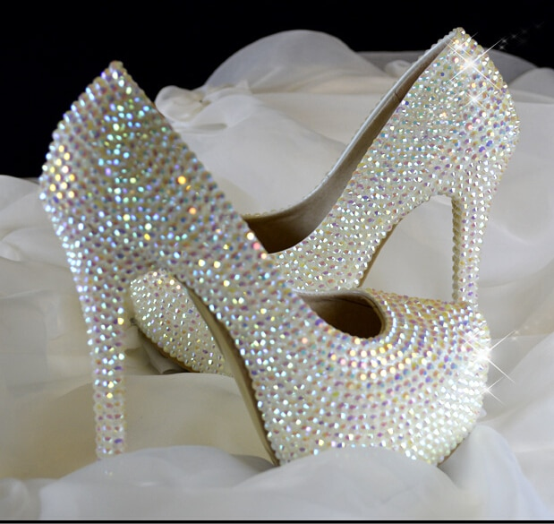 bridal shoes with bling photo - 1