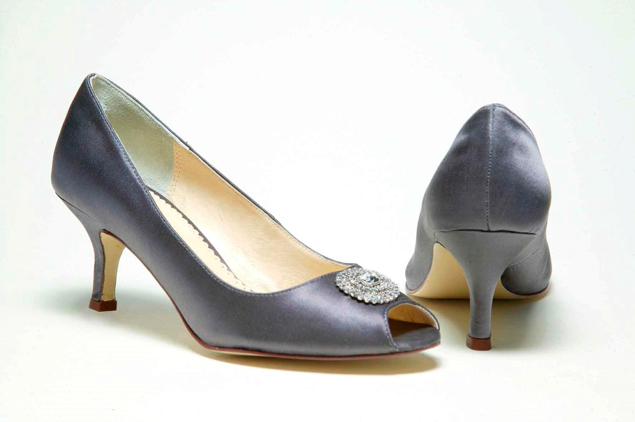 charcoal wedding shoes photo - 1