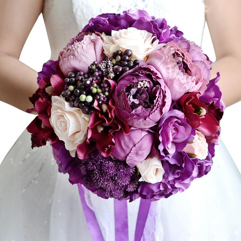 cheap artificial wedding bouquets online photo - 1