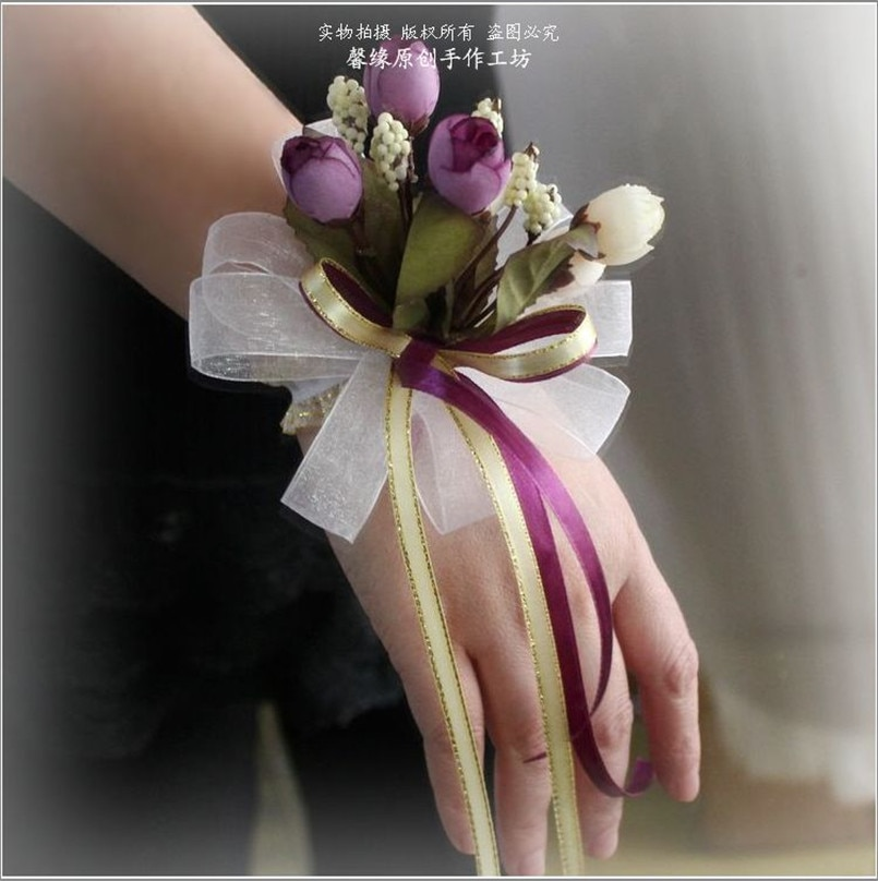 cheap fake flowers for wedding photo - 1