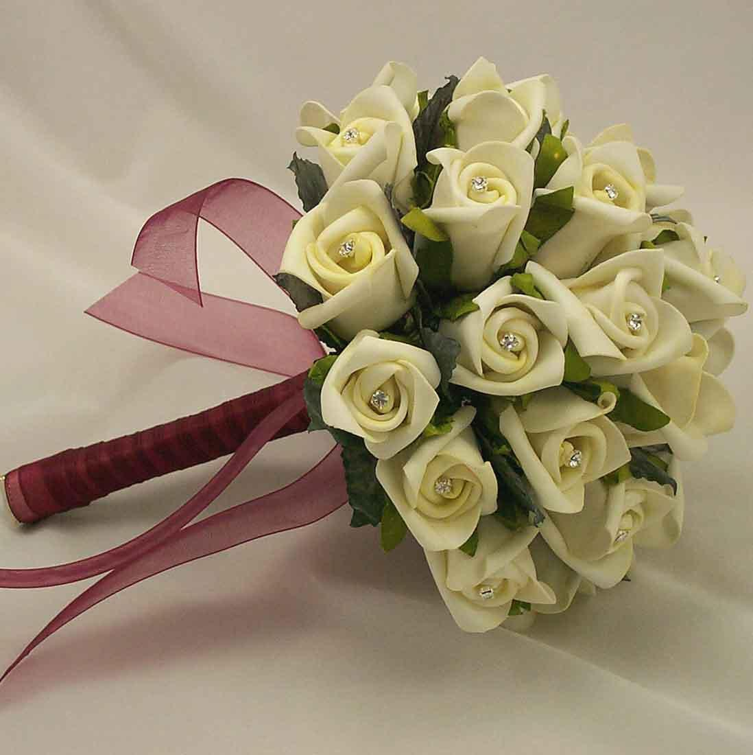 cheap silk wedding bouquets online photo - 1