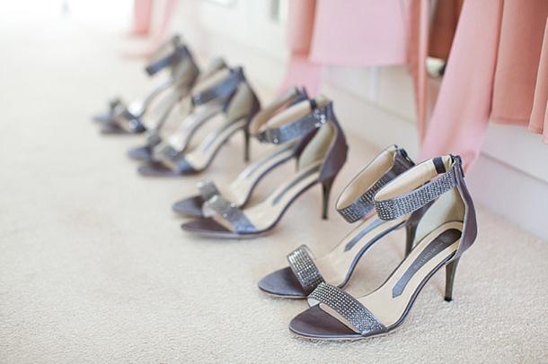 cheap silver wedding shoes for bridesmaids photo - 1