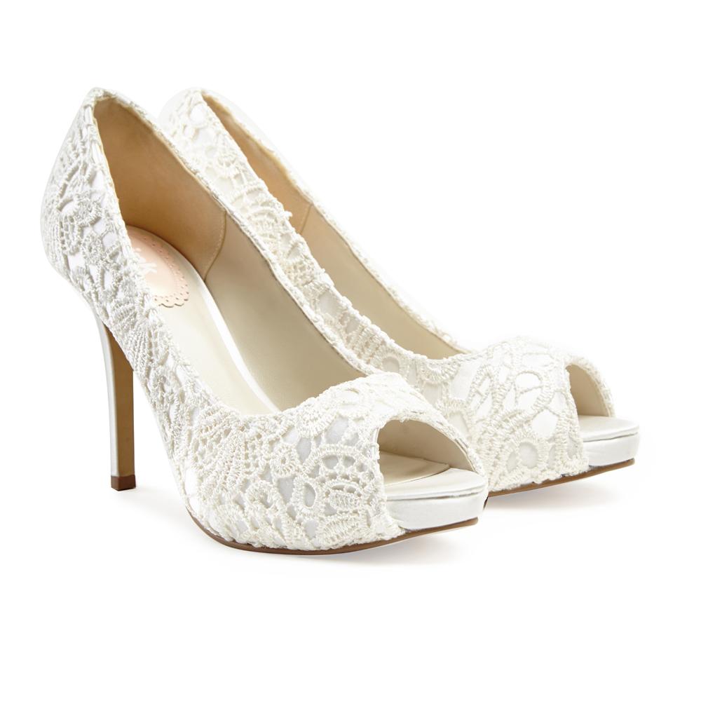 cheap wedding shoes ivory photo - 1