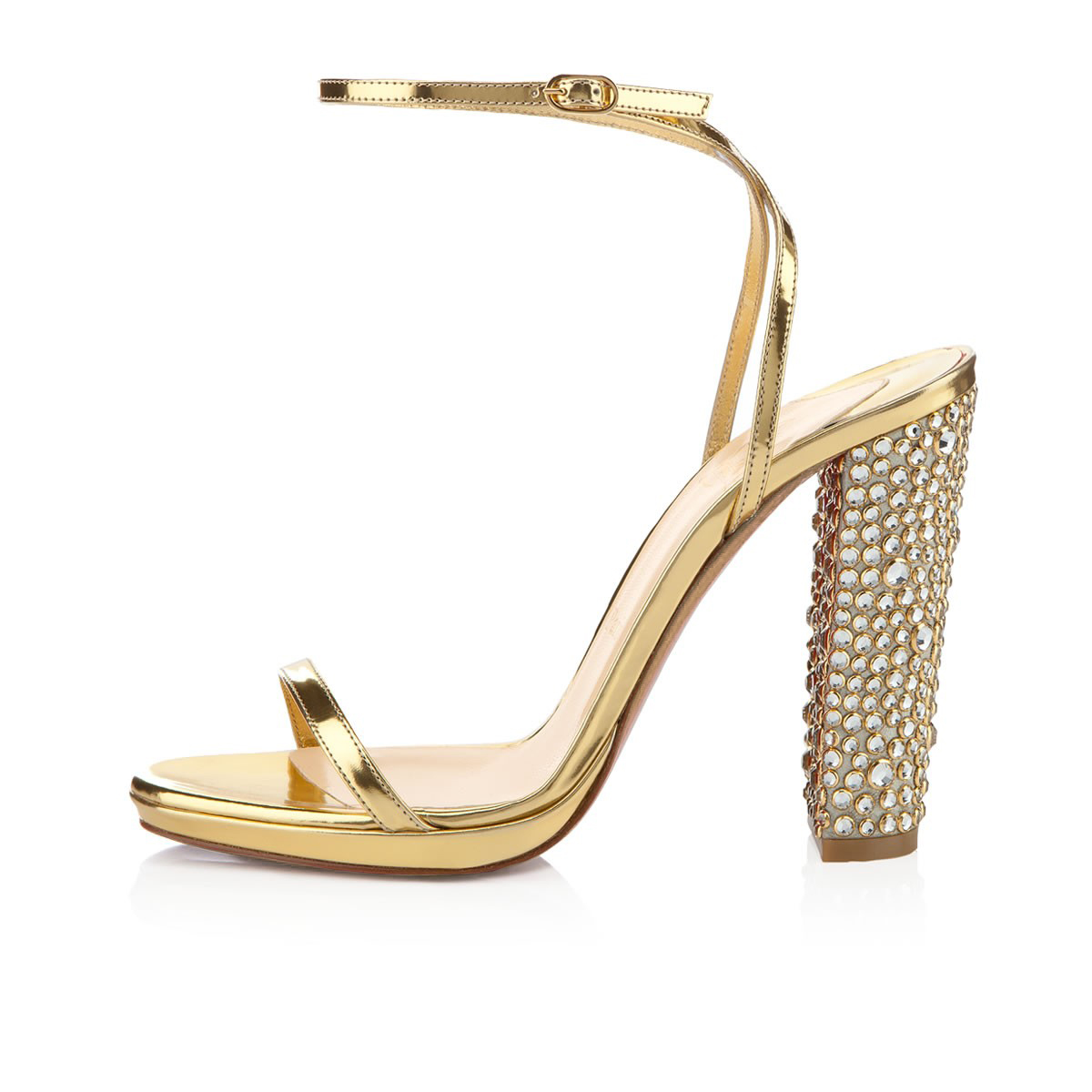 chunky heel bridal shoes photo - 1