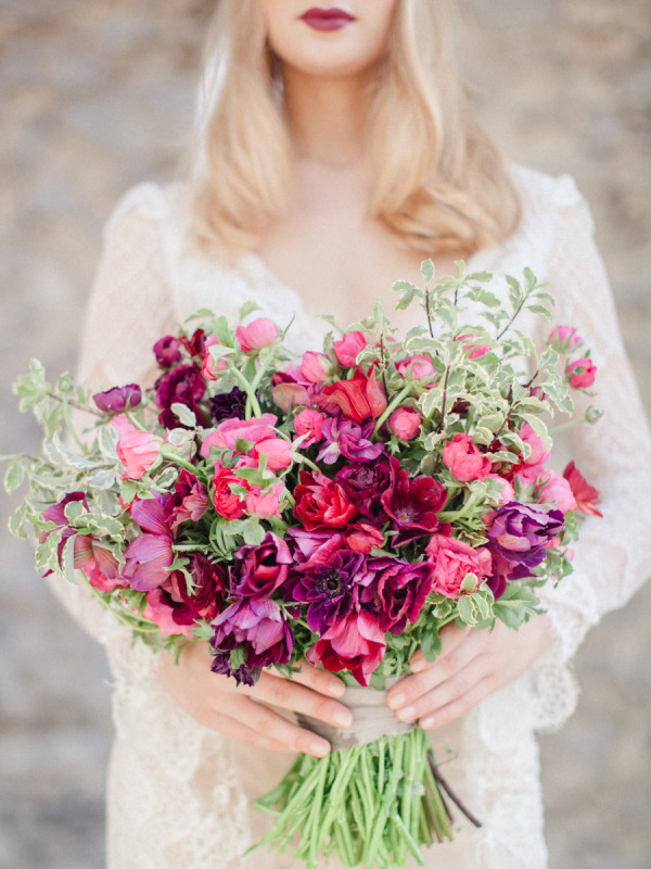 coral bridal bouquets photo - 1