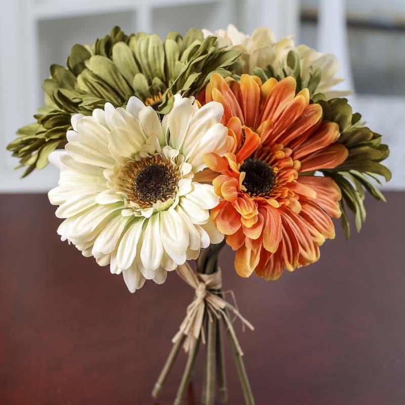 daisy bouquet wedding photo - 1