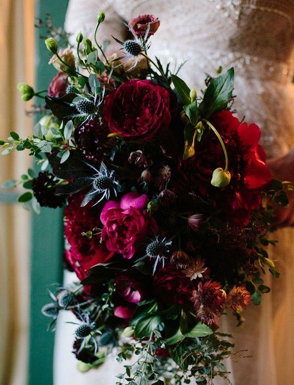 dark red bridal shoes photo - 1