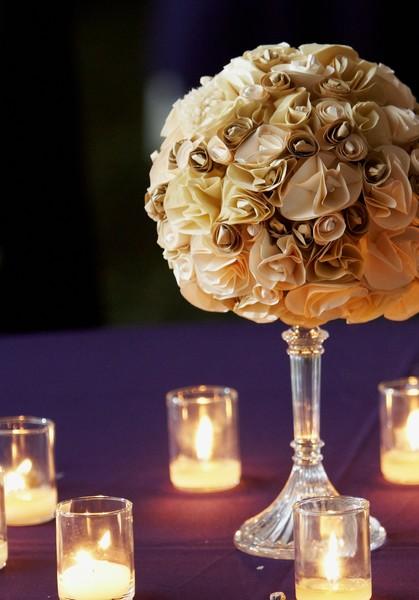 diy paper flowers wedding photo - 1