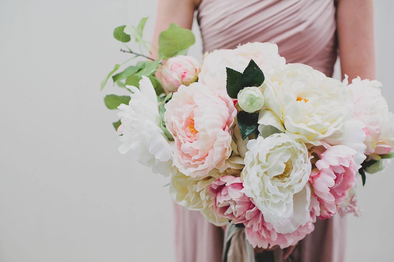 diy wedding bouquet fake flowers photo - 1