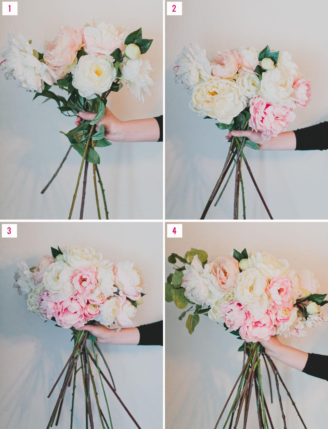 diy wedding bouquets silk flowers photo - 1