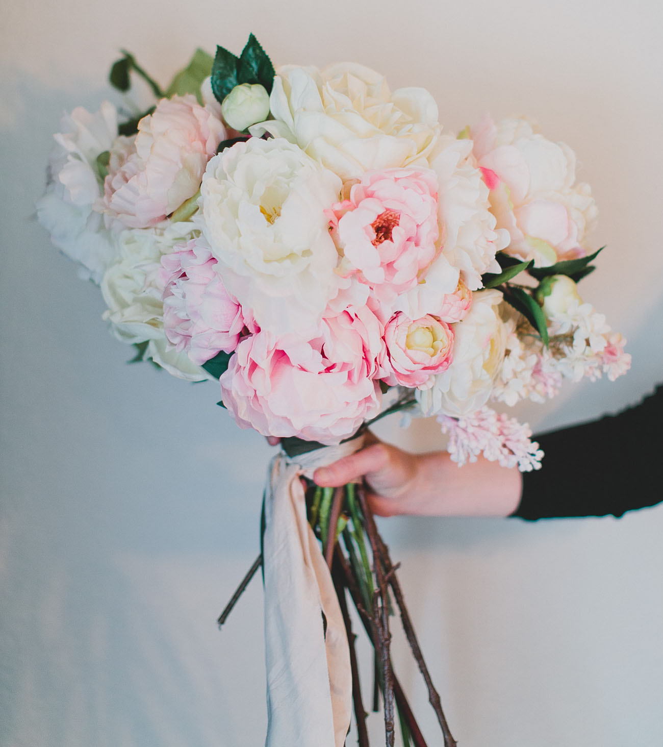 diy wedding bouquets with fake flowers photo - 1