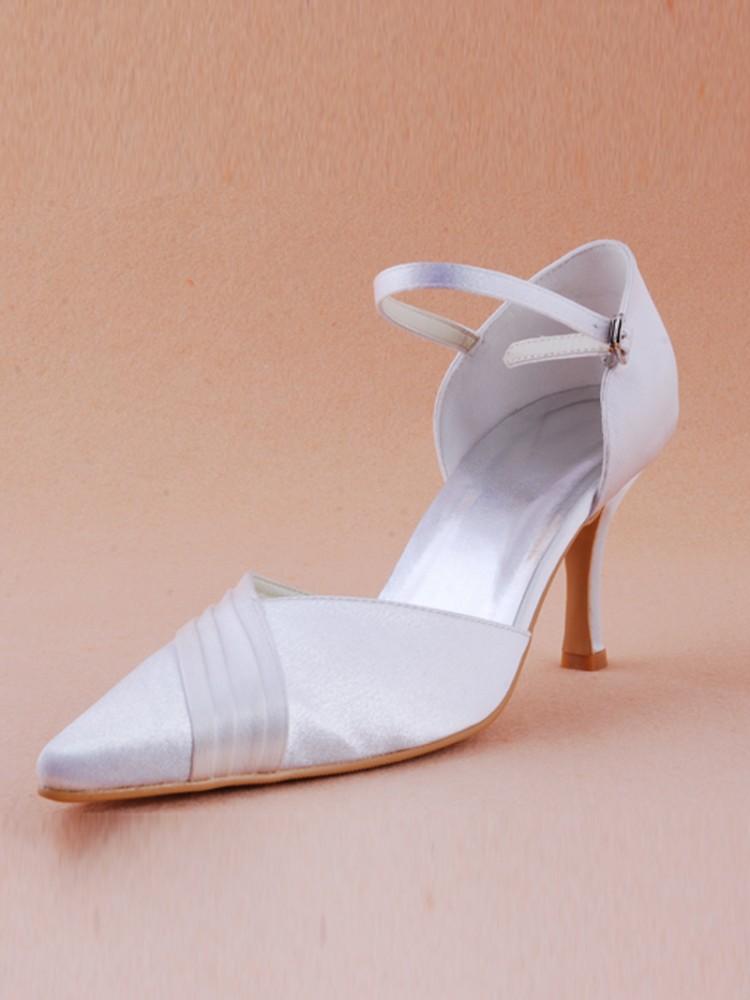 dyeable wedge wedding shoes photo - 1