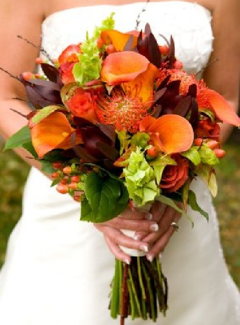 fall flowers for wedding bouquets photo - 1