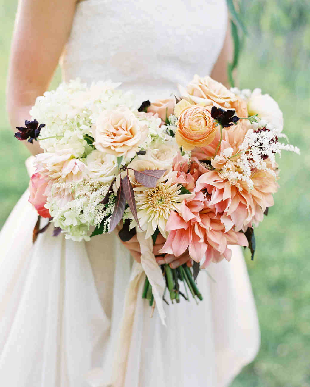 fall rose wedding bouquets photo - 1