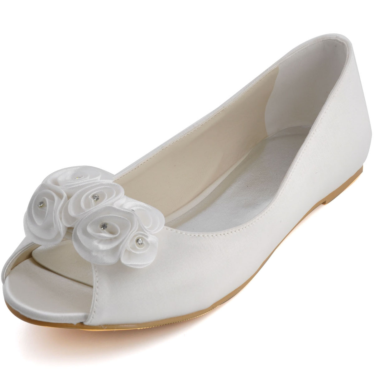 flat wedding shoes for bride photo - 1