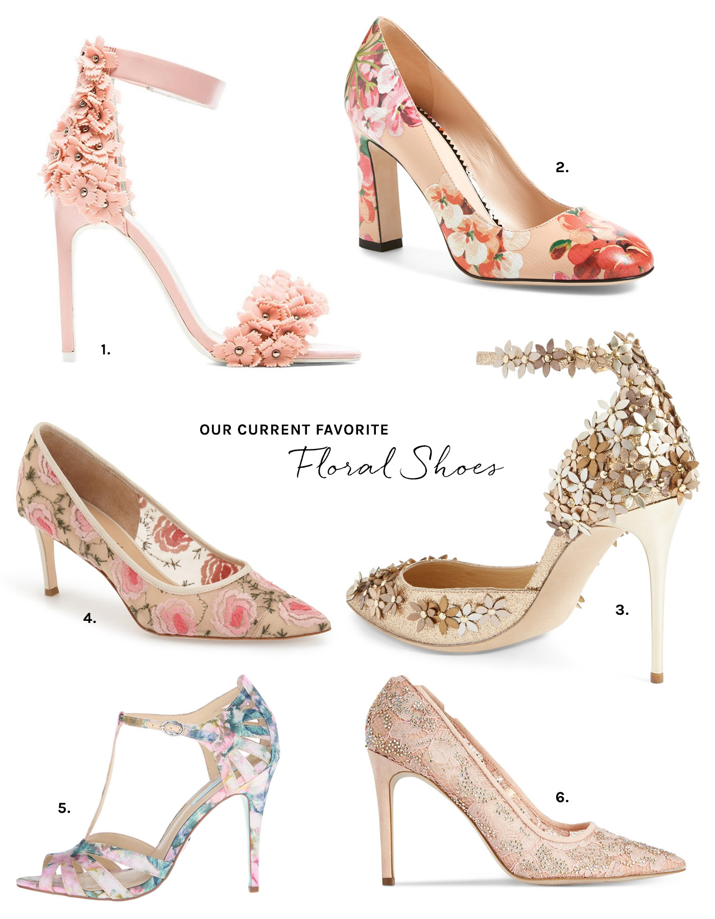 floral bridal shoes photo - 1