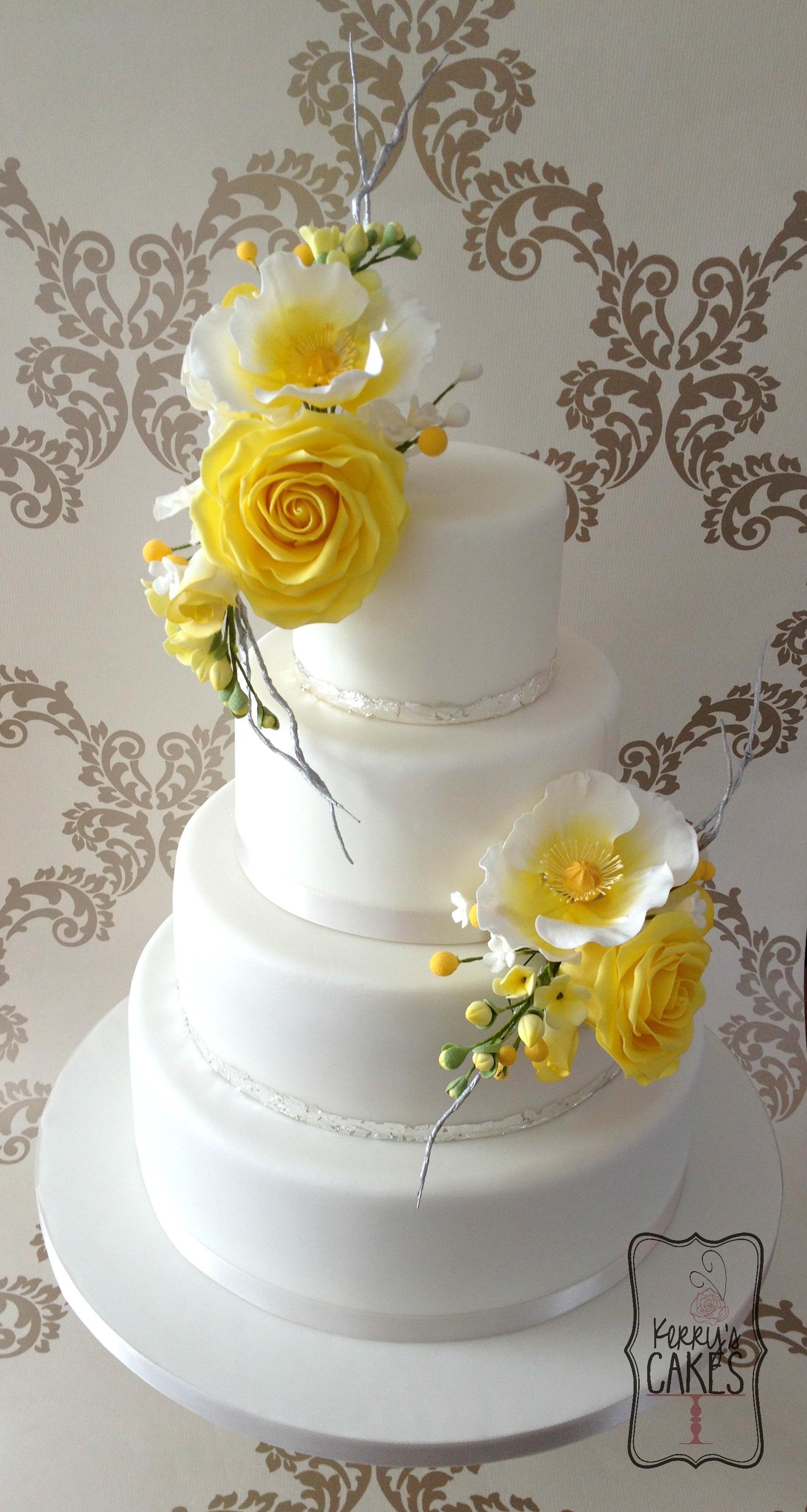 flower wedding cake photo - 1