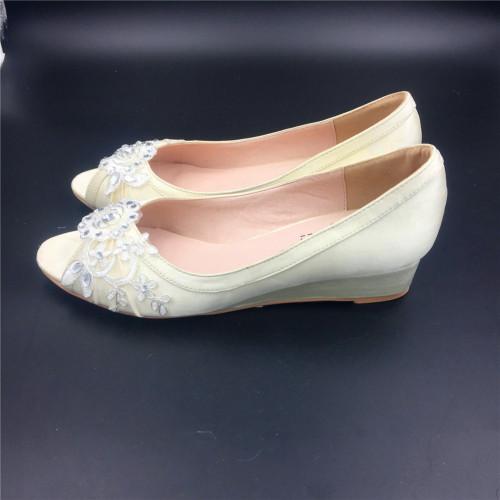 gold wedding shoes wedges photo - 1