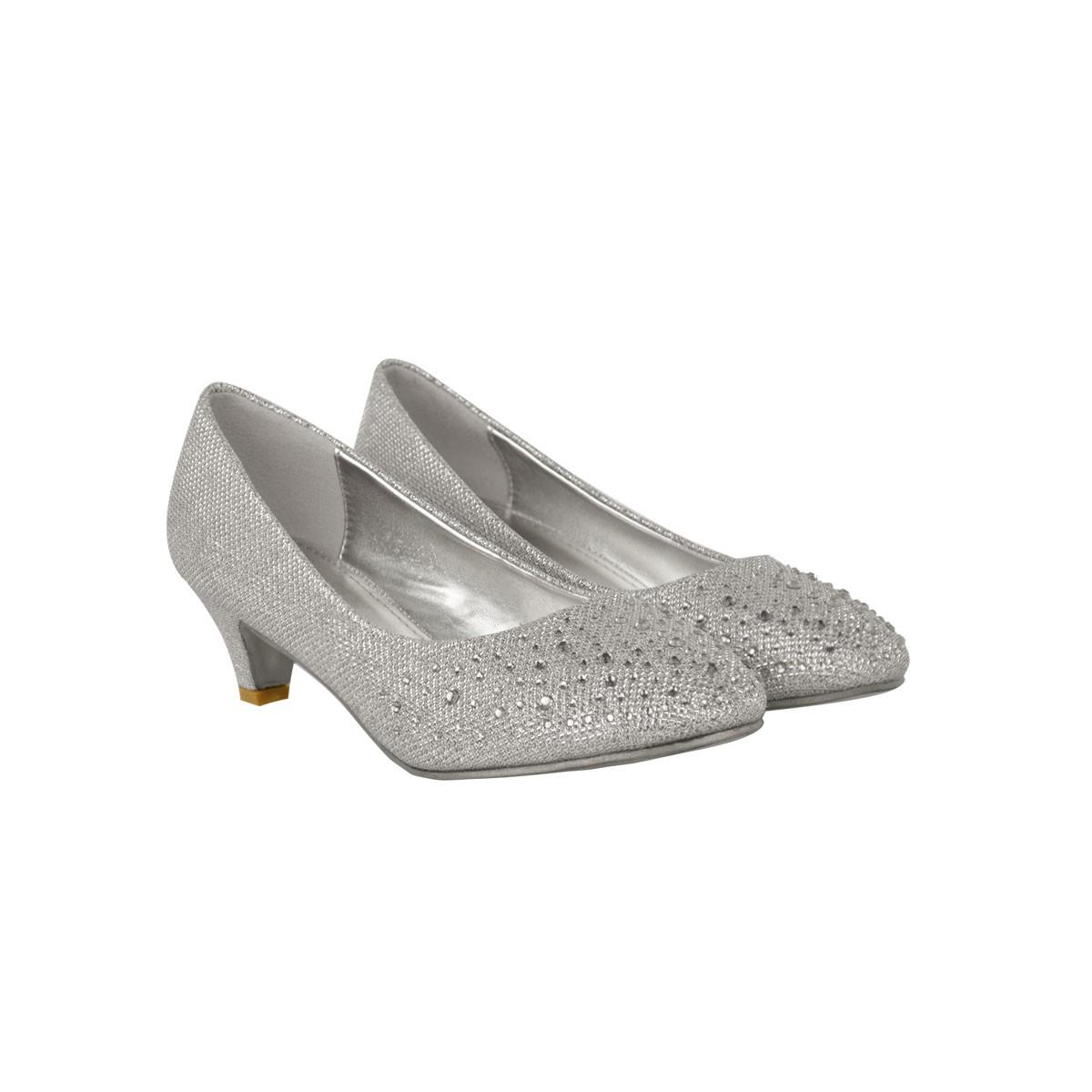 gray bridal shoes photo - 1