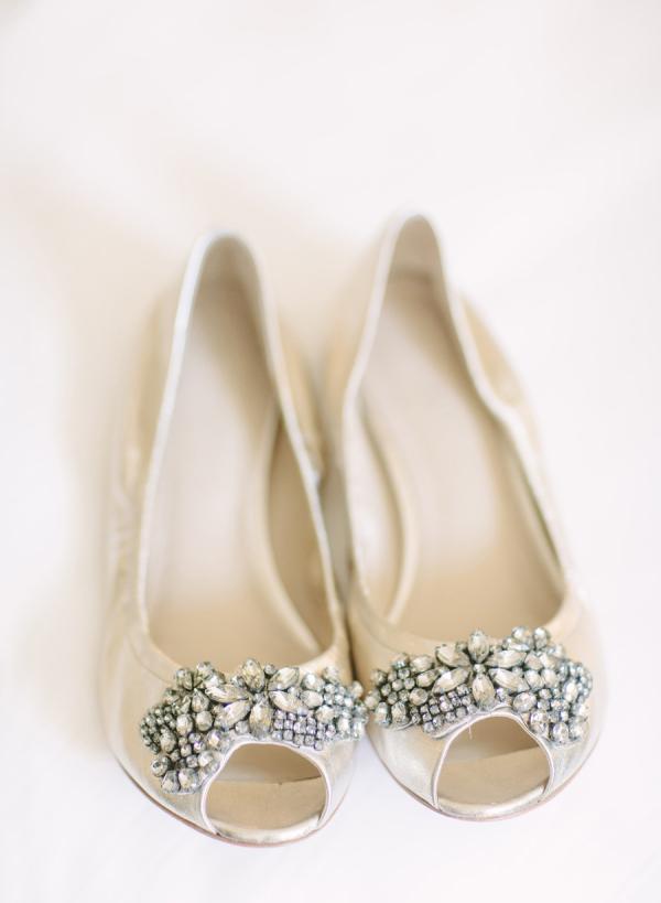 ivory peep toe wedding shoes photo - 1