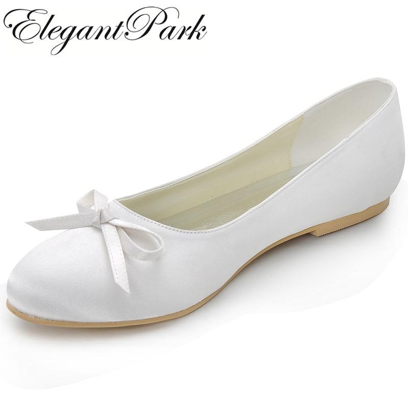 ivory wedding flats shoes photo - 1