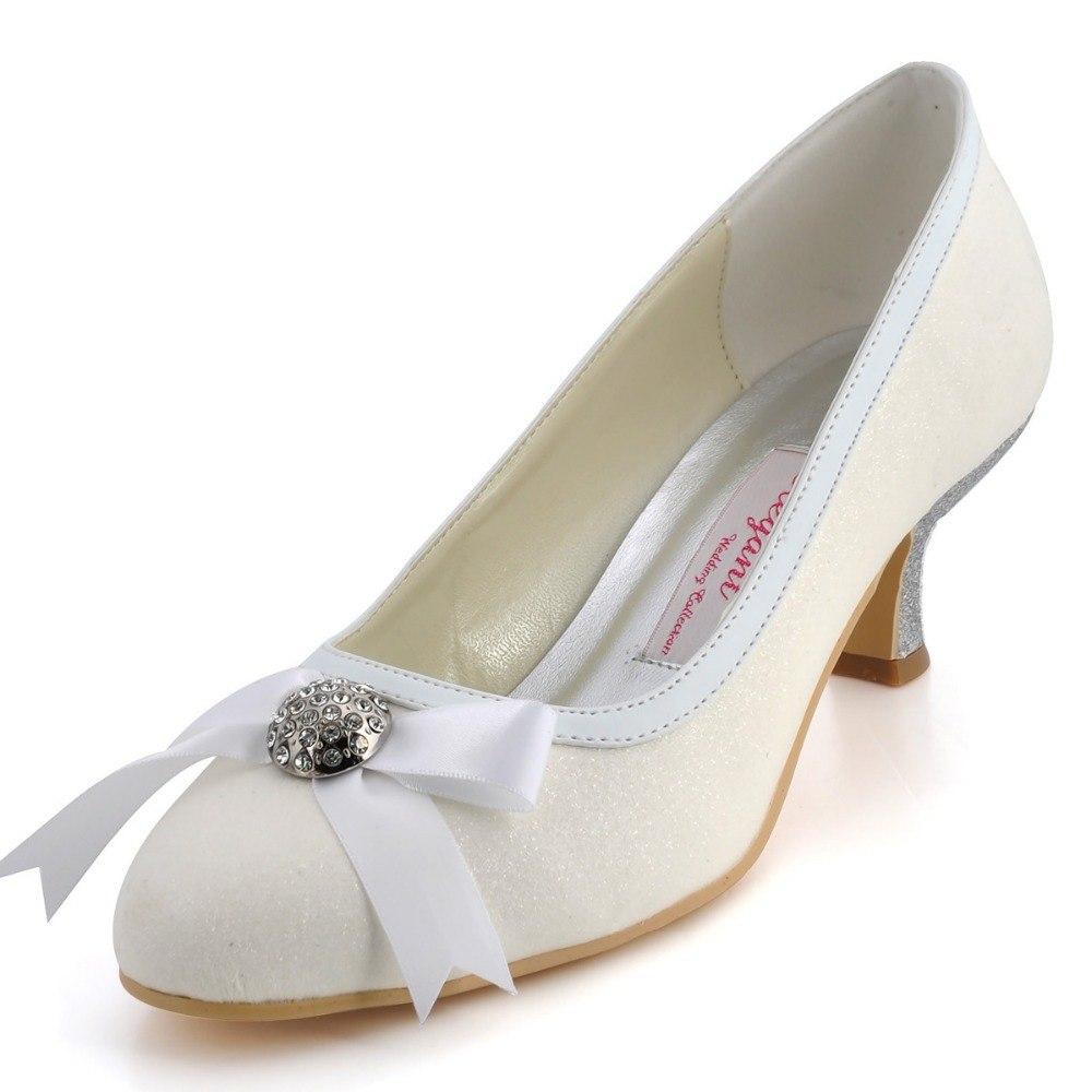 ivory wedding shoes with rhinestones photo - 1