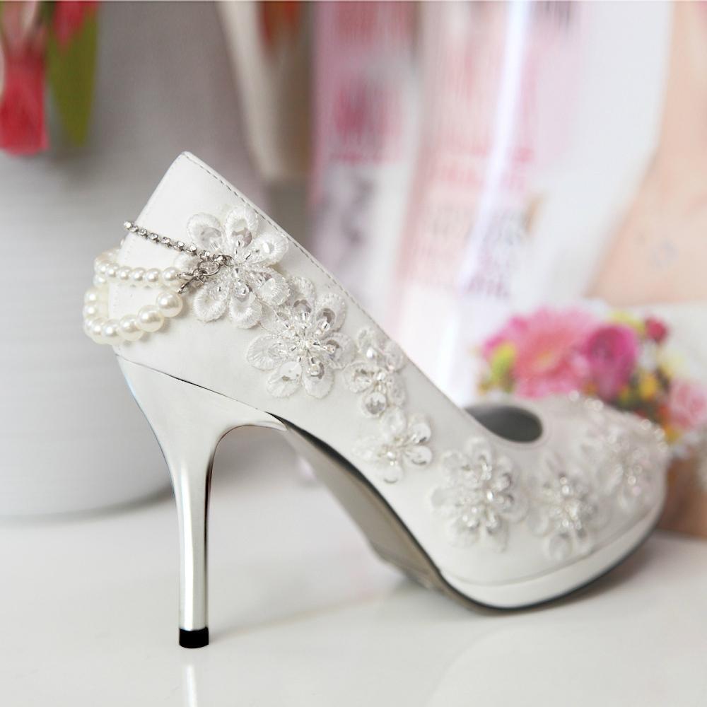 ivory wedges wedding shoes photo - 1