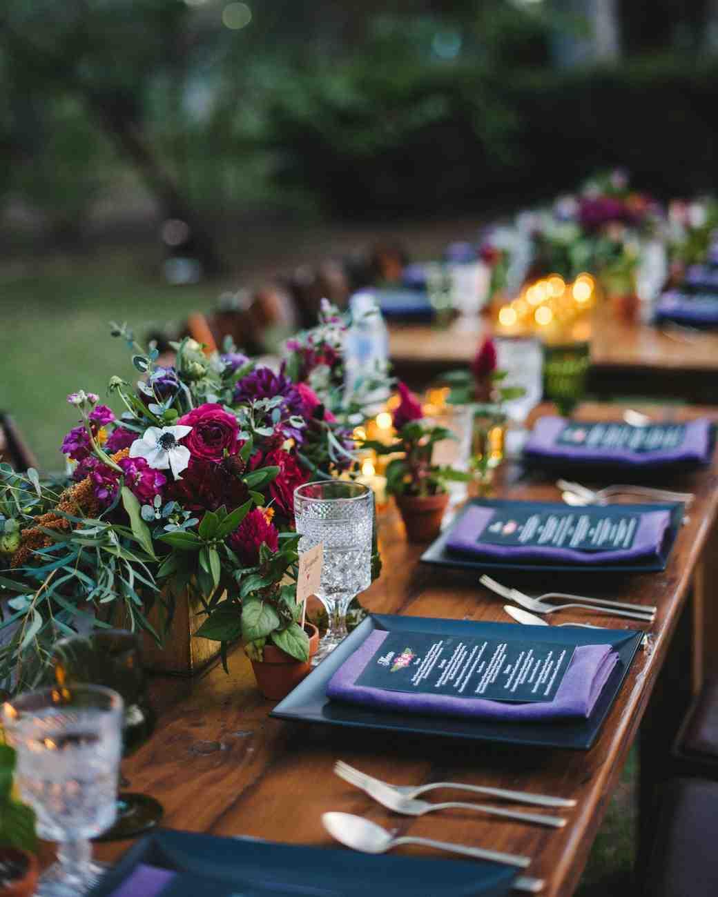 jewel toned wedding bouquets photo - 1