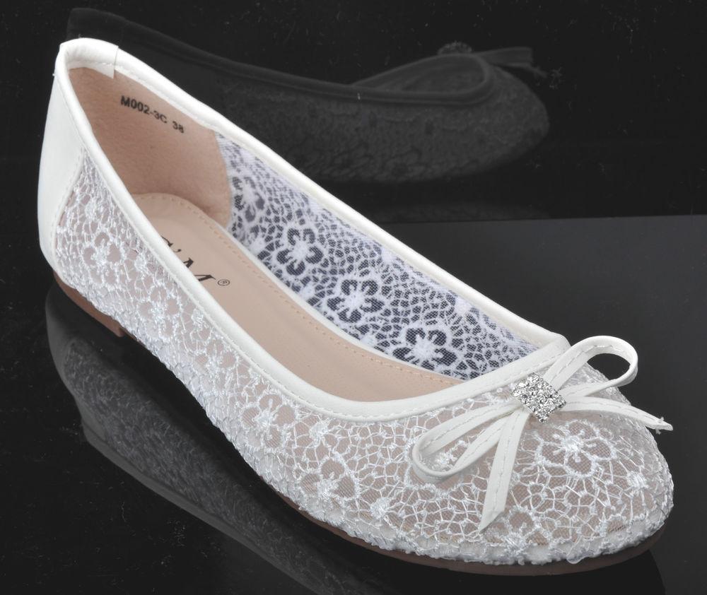 lace flat wedding shoes photo - 1