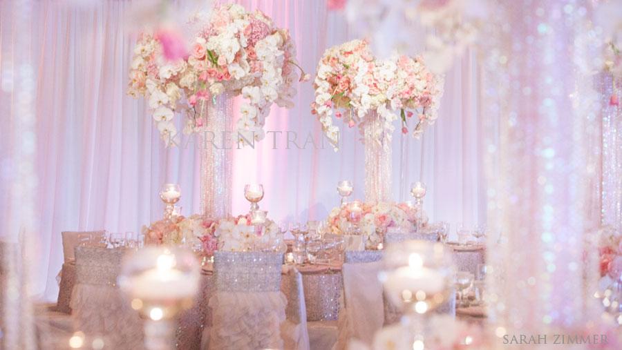 light blue wedding flowers photo - 1