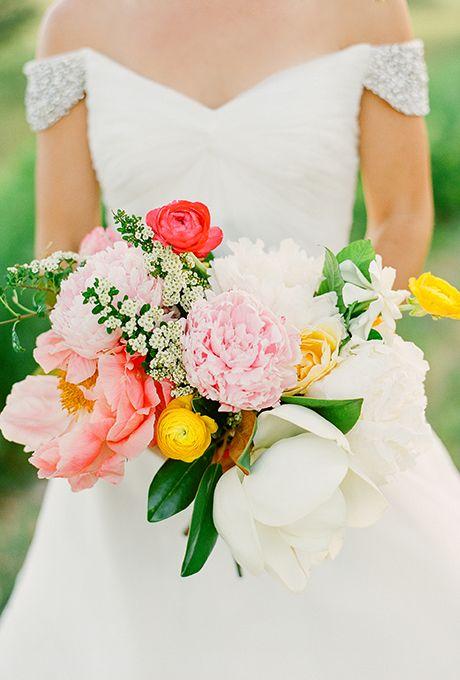 light pink wedding bouquets photo - 1