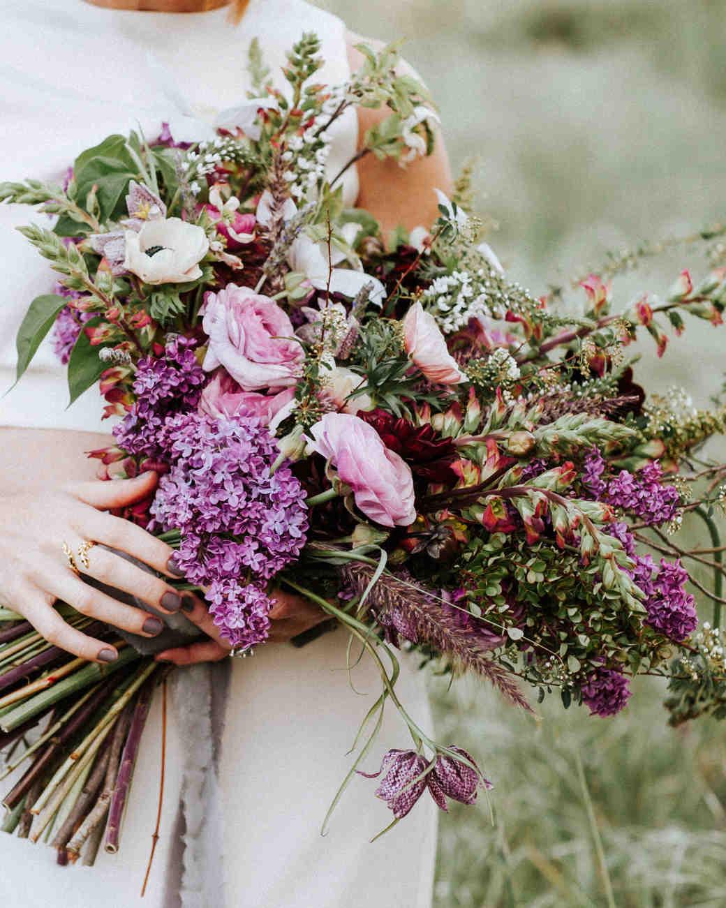 lilacs wedding bouquets photo - 1