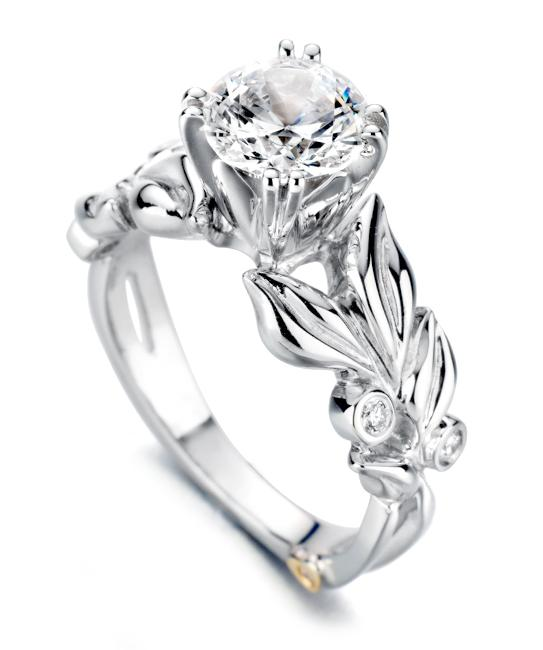 lotus flower wedding rings photo - 1