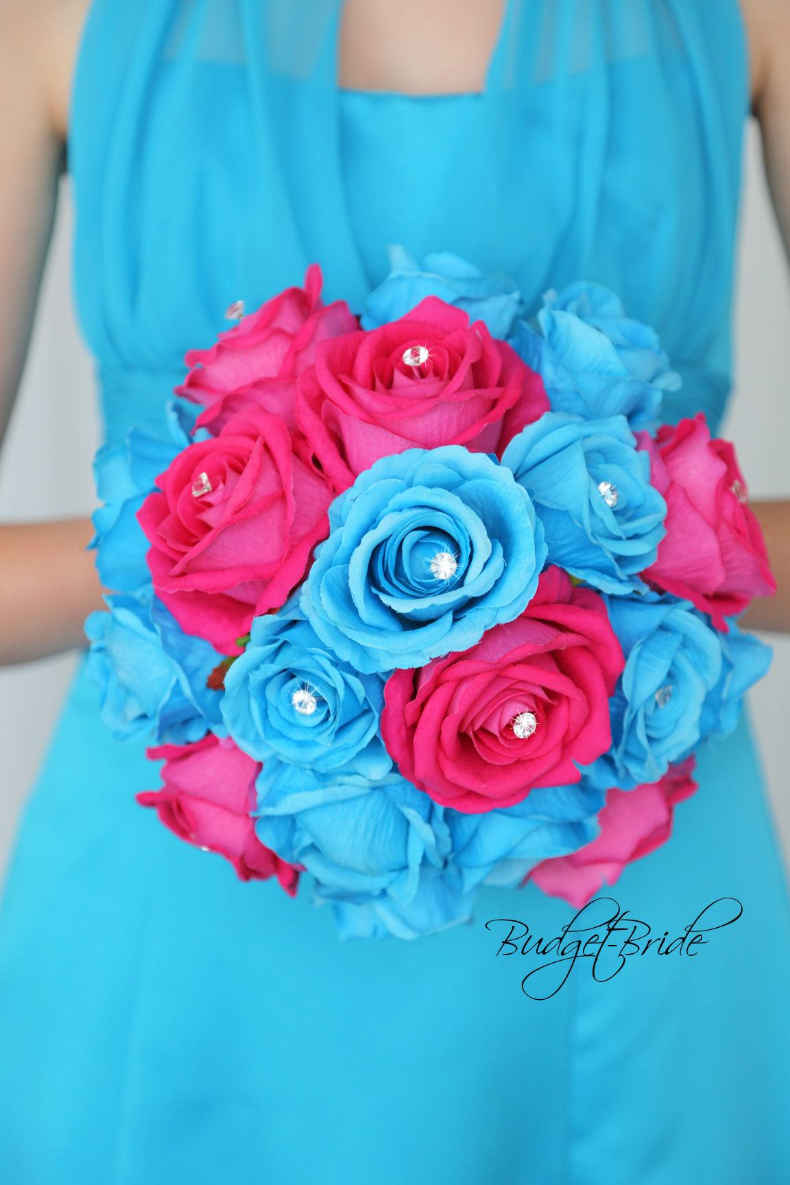 malibu blue wedding bouquets photo - 1