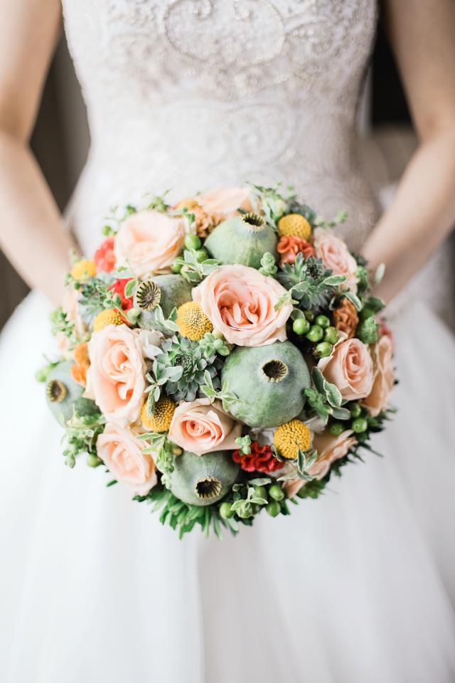 mint wedding bouquets photo - 1