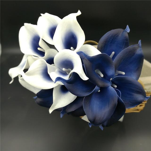 navy blue wedding bouquets photo - 1