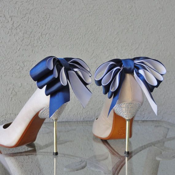 navy bridal shoes photo - 1