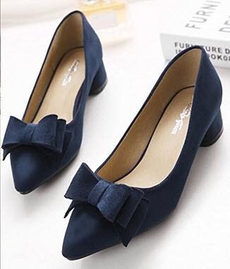 navy flat wedding shoes photo - 1