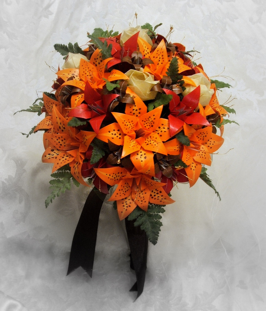 origami wedding bouquets photo - 1
