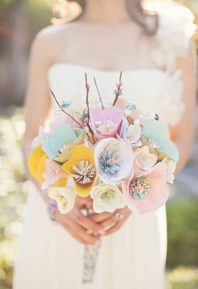 paper flower bouquets wedding photo - 1