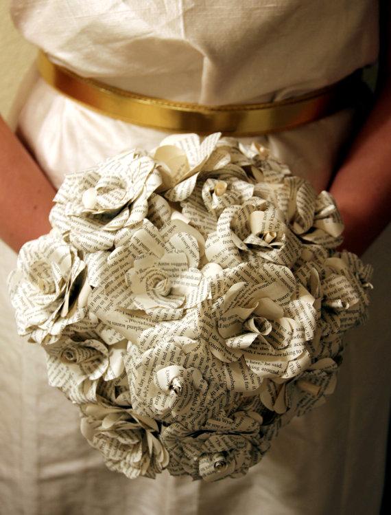 paper flower wedding bouquets photo - 1