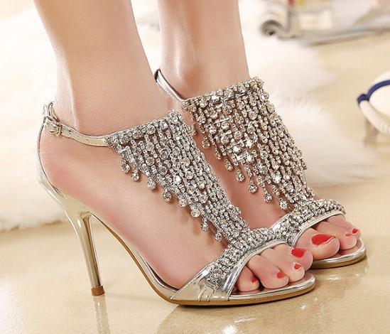 peach bridal shoes photo - 1