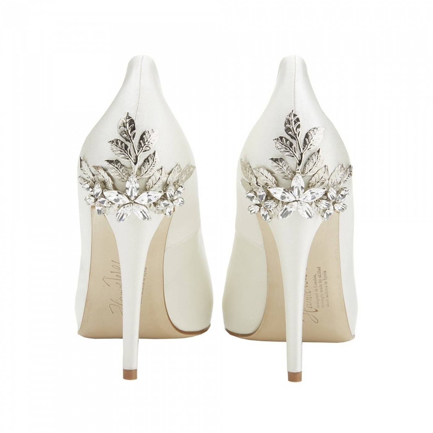 Peep Toe Bridal Shoes Ivory