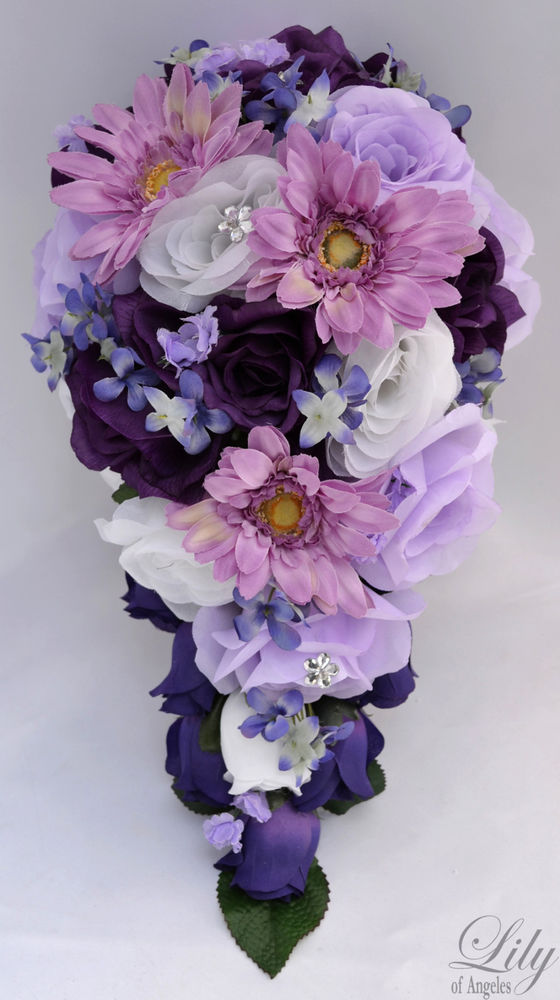 plum wedding flowers photo - 1