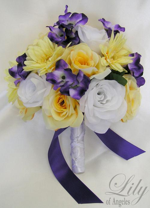 purple flowers wedding bouquets photo - 1