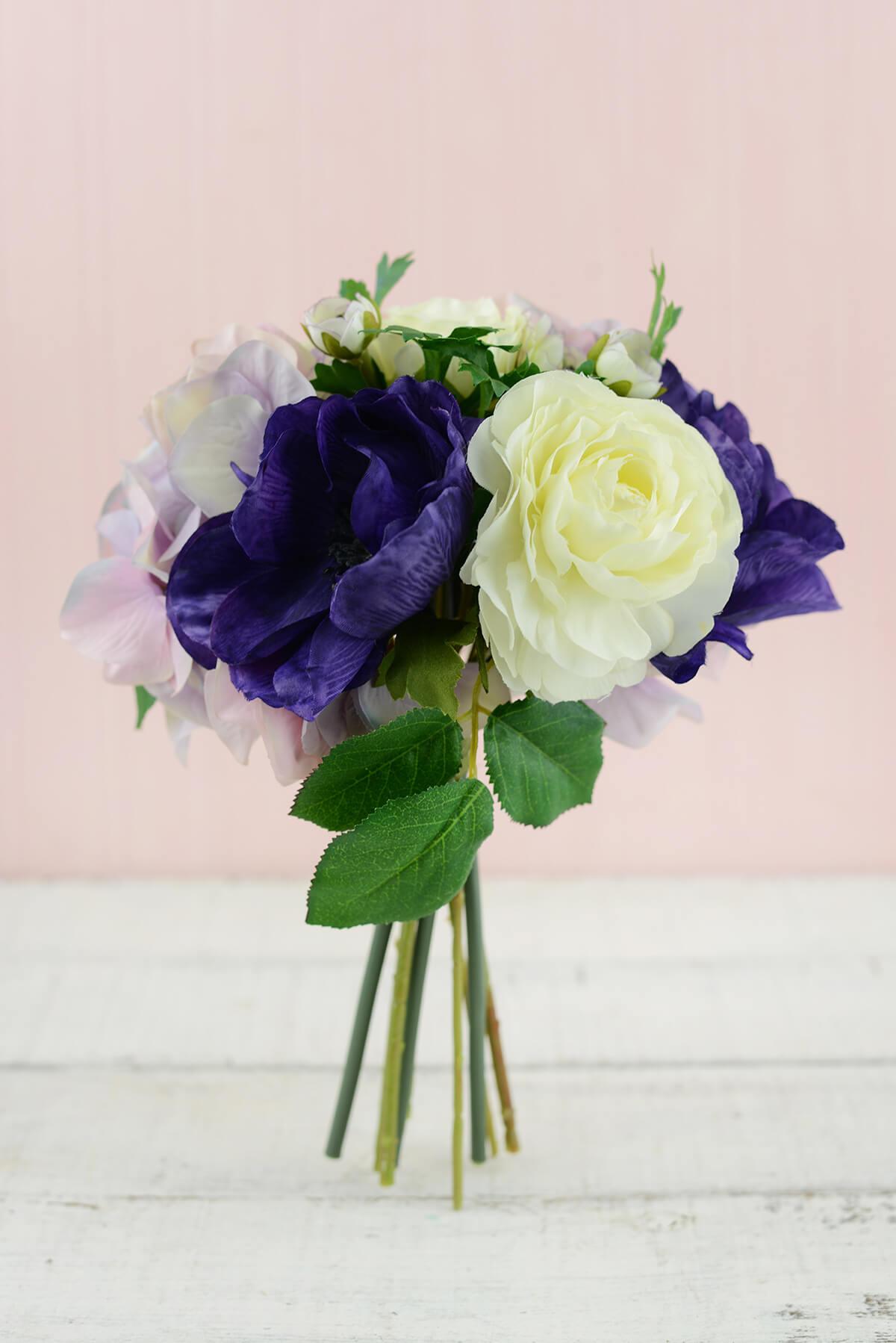 purple hydrangea wedding bouquets photo - 1
